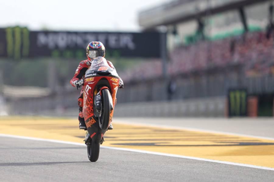 Honda's Rodrigo And Alcoba Dominate Moto3 Qualifying