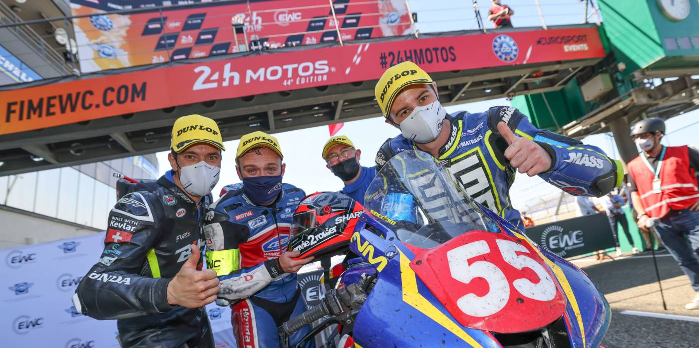 National Motos take incredible victory in STK at the 24h Motos at Le Mans whilst F.C.C. TSR Honda France denied the chance to continue their podium fight