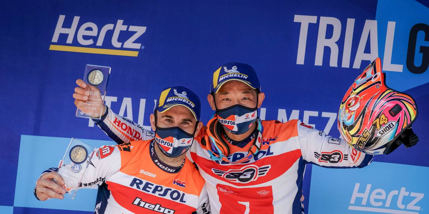 One-two for Repsol Honda Trial Team in Italy. Fujinami, victorious, aged 41