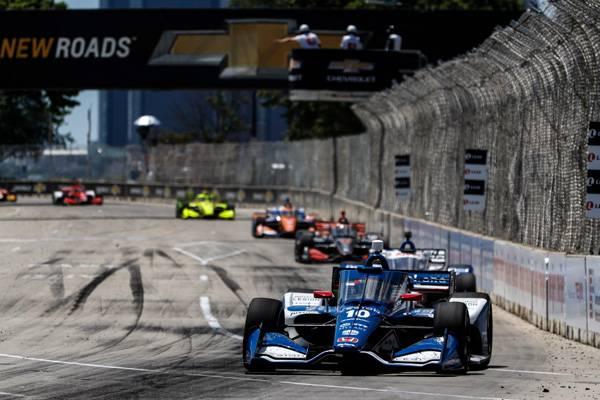 Podium for Palou, Honda at Detroit INDYCAR Race Two