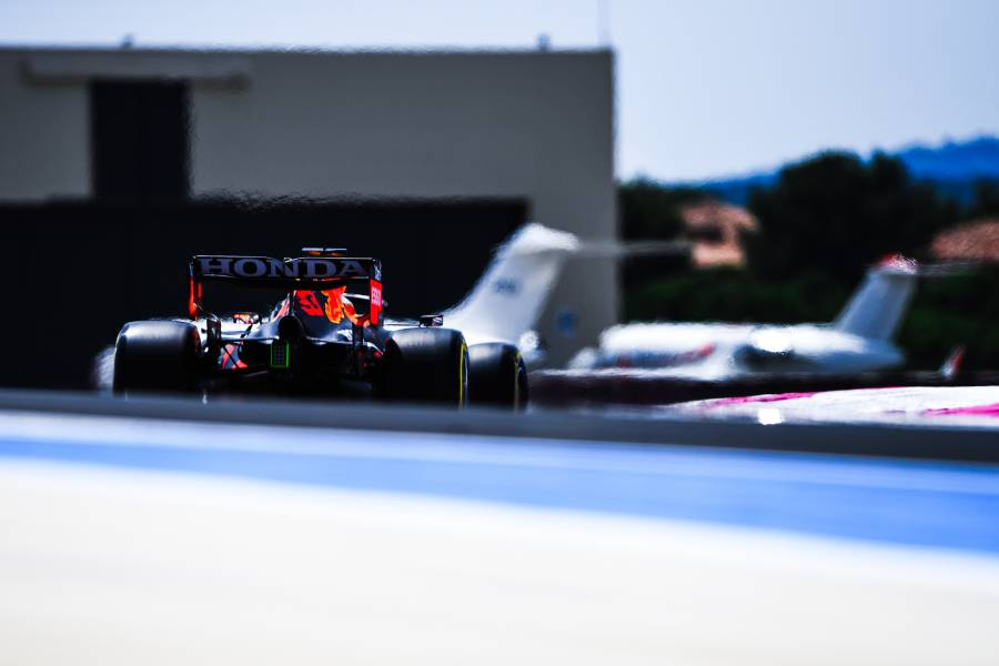 Red Bull Racing Honda set the pace in Friday practice for the French Grand Prix