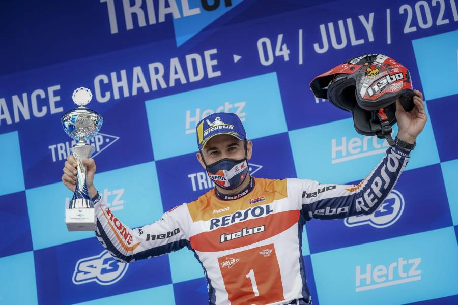 Toni Bou achieves a 120th Trial World Championship win after a superb race in France