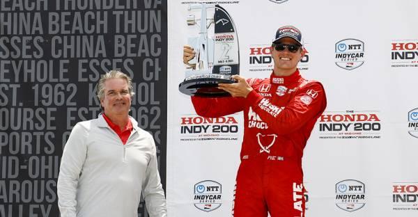 マーカス・エリクソンが2位、アレックス・パロウが3位でHondaインディ200の表彰台に登壇