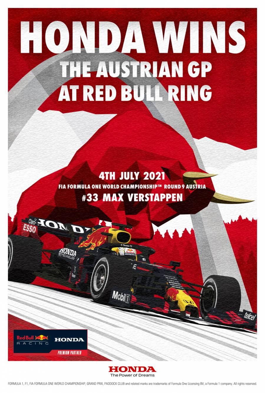 オーストリアGP優勝記念ポスター