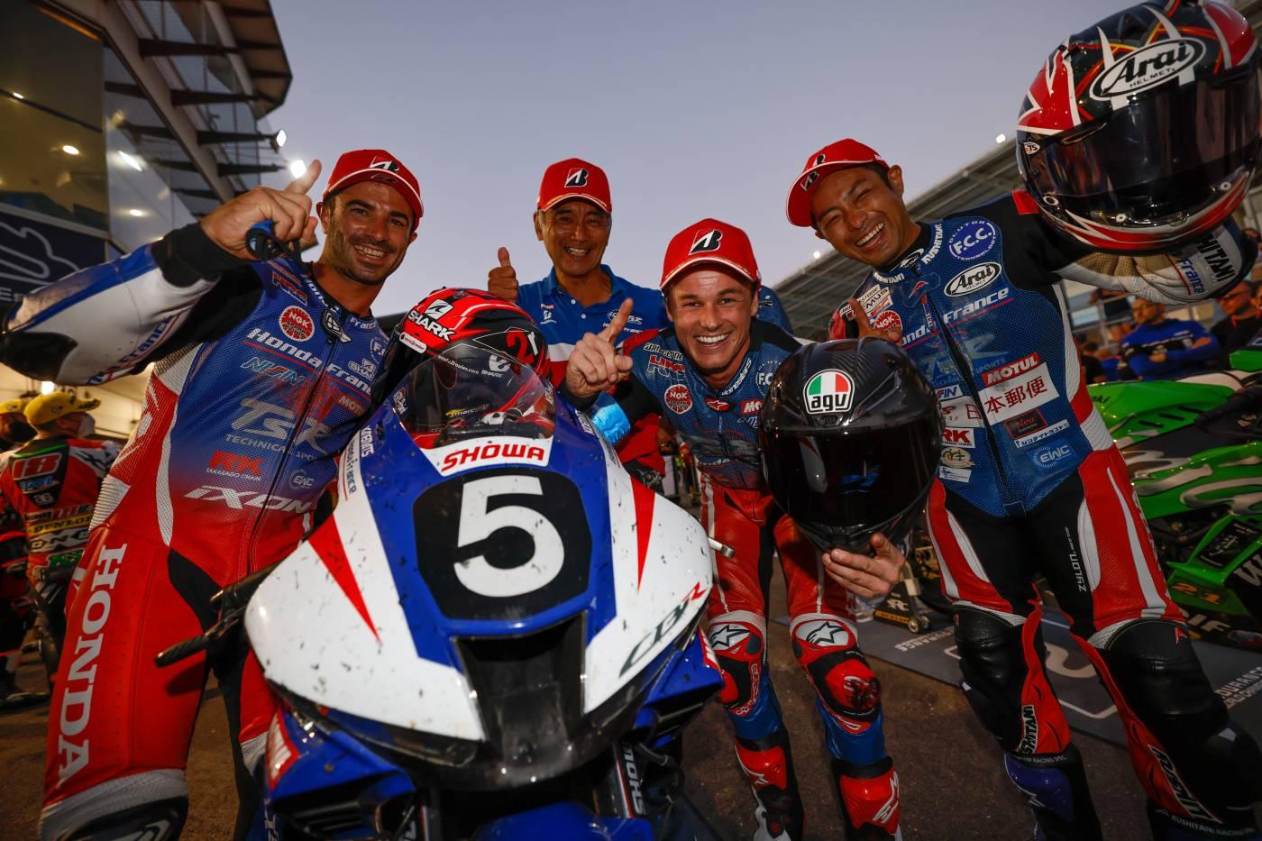 F.C.C. TSR Honda France win the 12 Hours of Estoril