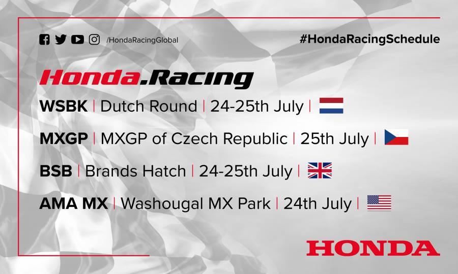 This weekend's racing