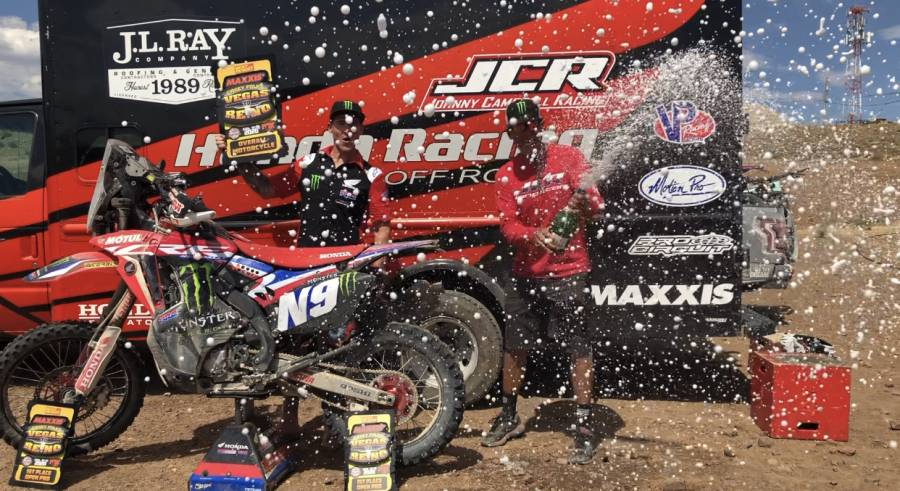 Ricky Brabec flies across the Nevada desert to claim a third Vegas To Reno win