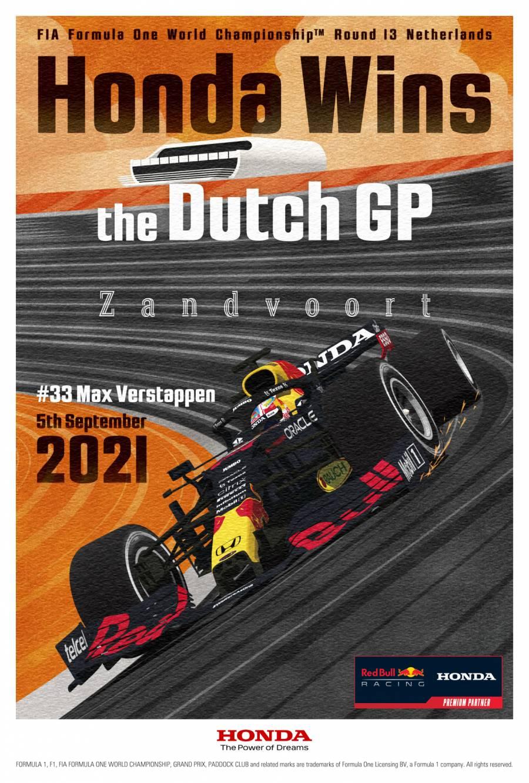 オランダGP優勝記念ポスター