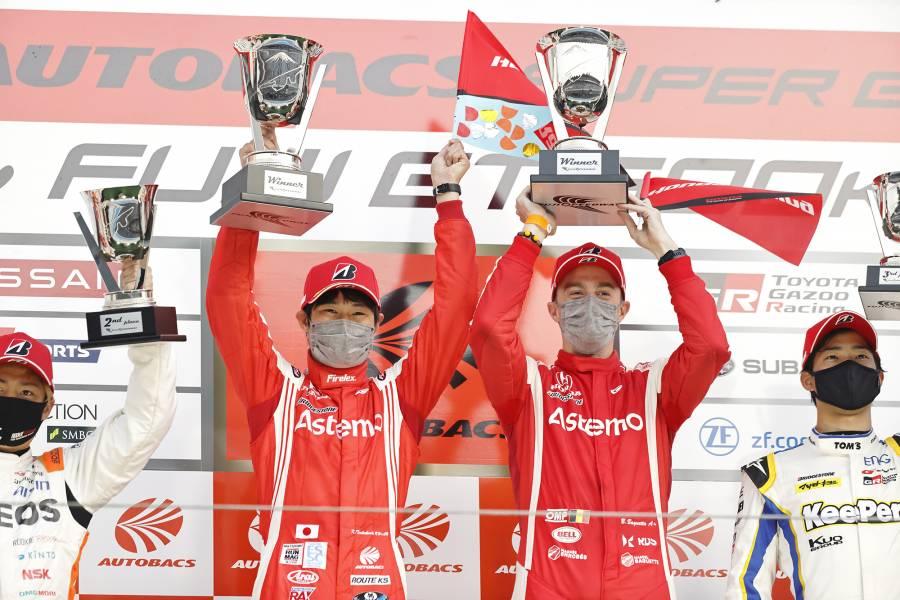 第2戦富士で勝利を挙げた#17 Astemo NSX-GT 塚越/バゲット組