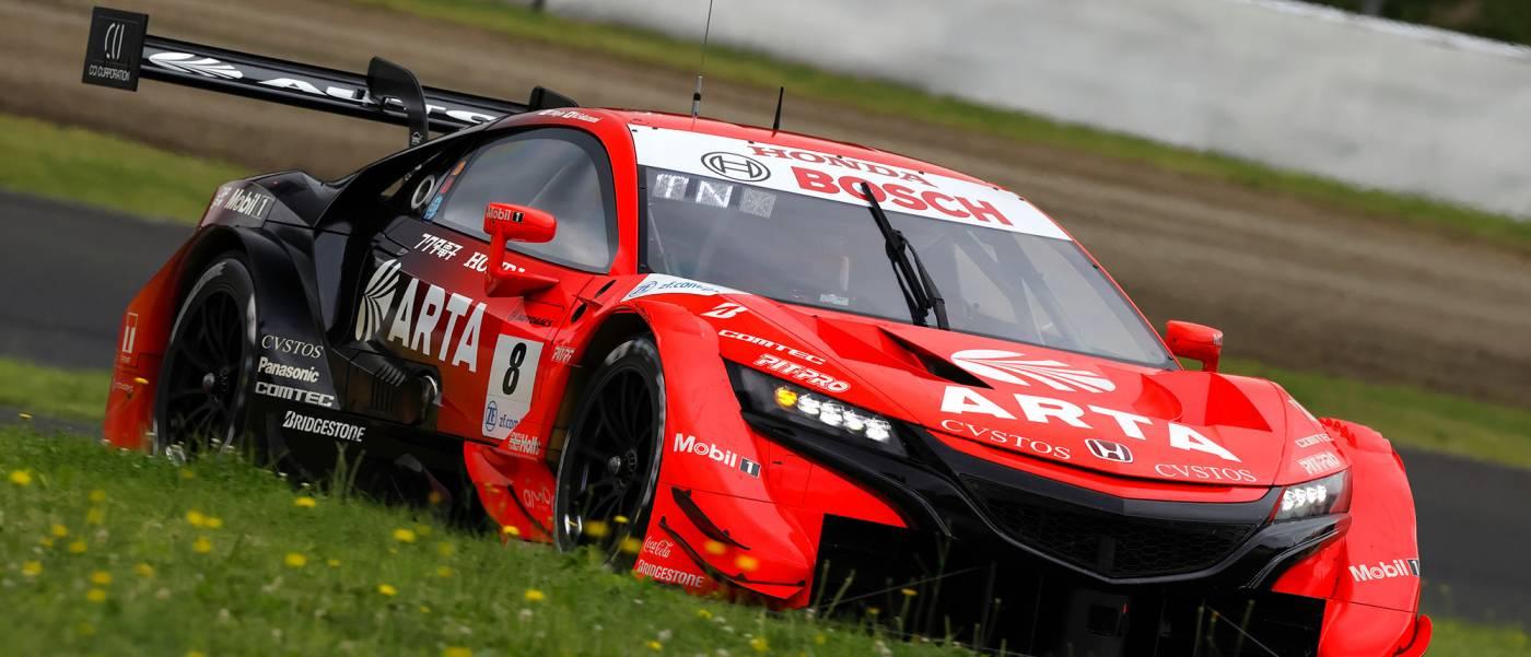 ARTA NSX-GTがポールポジション、Red Bull MOTUL MUGEN NSX-GTが2番手でHondaがフロントローに並ぶ