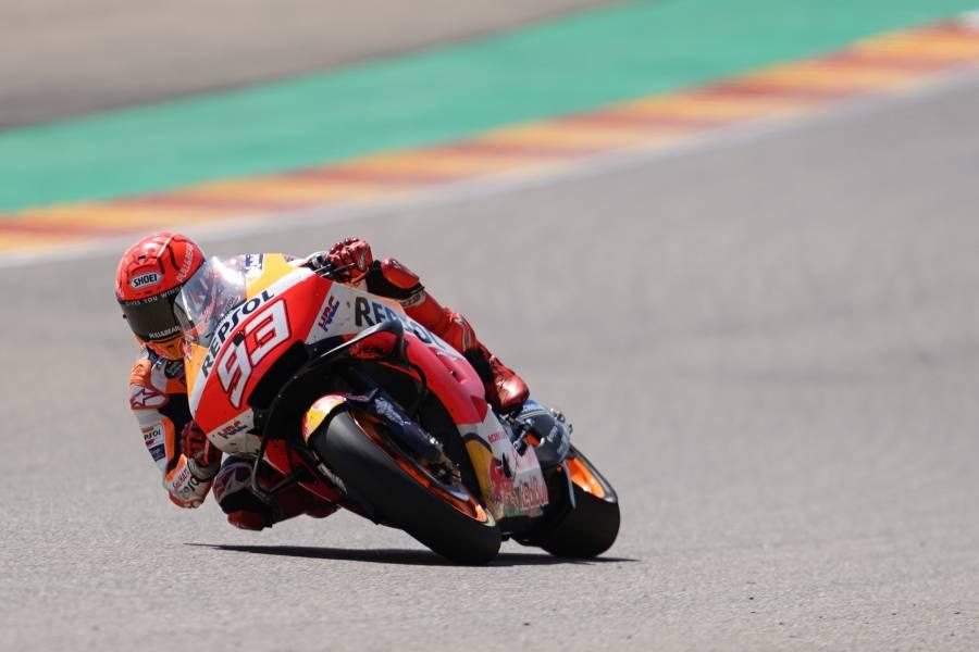 Marquez Takes Brilliant Second Place in Aragon Thriller