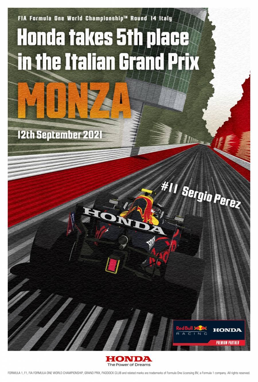 イタリアGP参戦記念ポスター