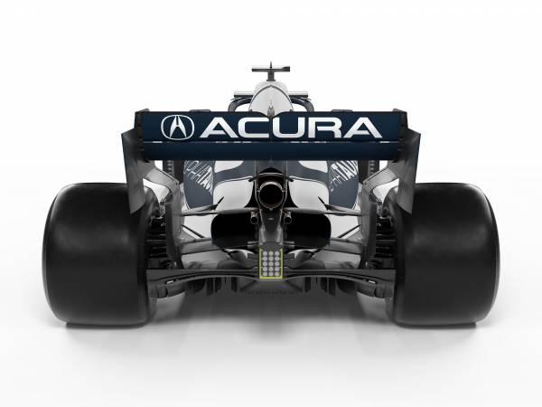 Honda PUを搭載する4台が、AcuraのロゴとともにアメリカGPに参戦