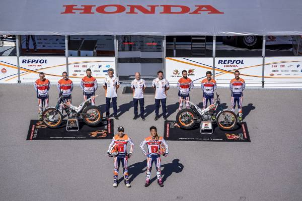 Toni Bou and Takahisa Fujinami together for a fifteenth season with Repsol Honda Team