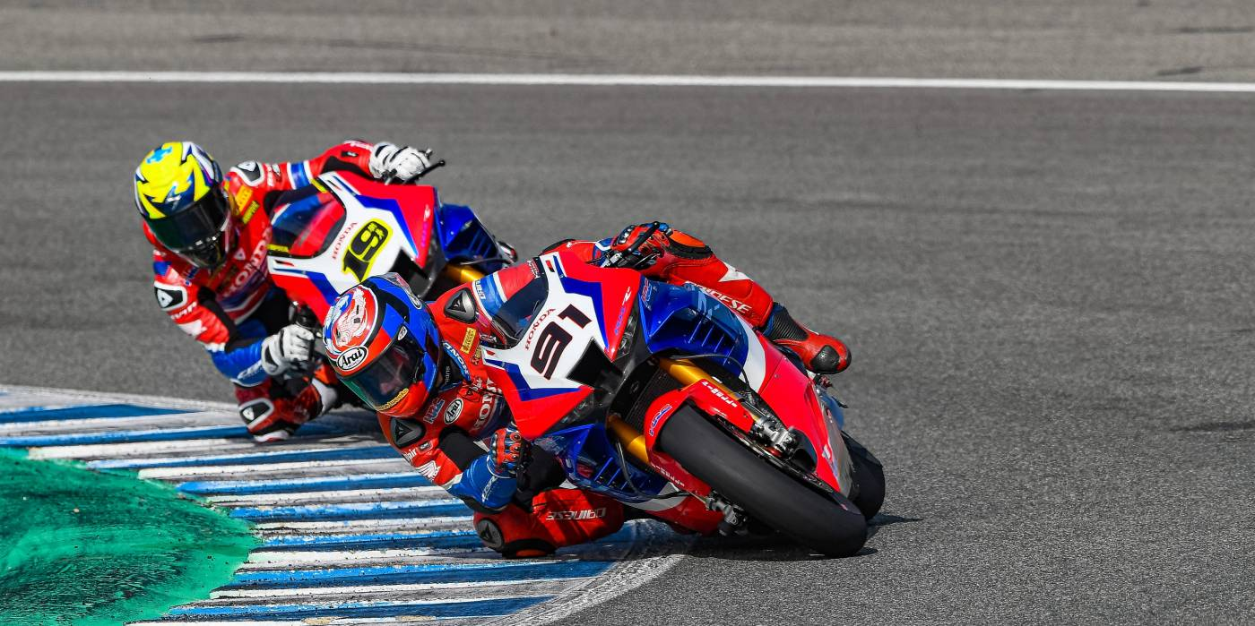 Team HRC finds useful dry track time at Jerez despite rain and fog