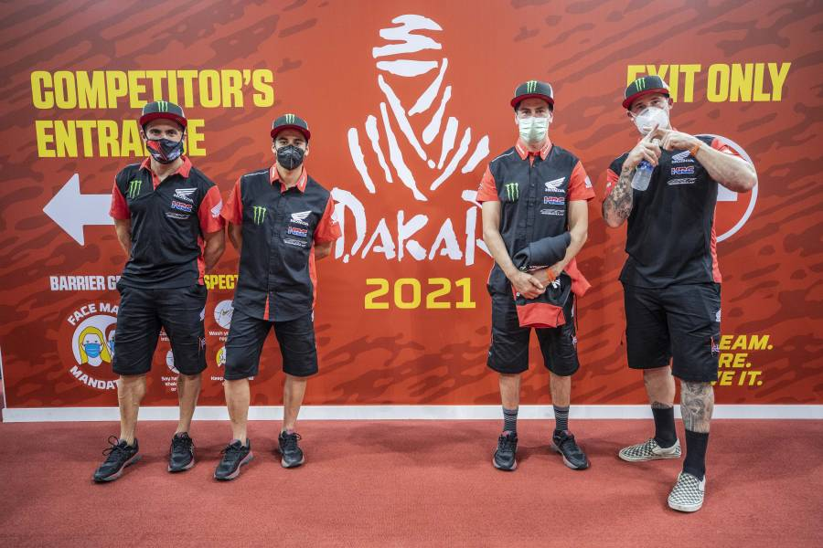 Monster Energy Honda Team ready to rumble. Let the action commence!