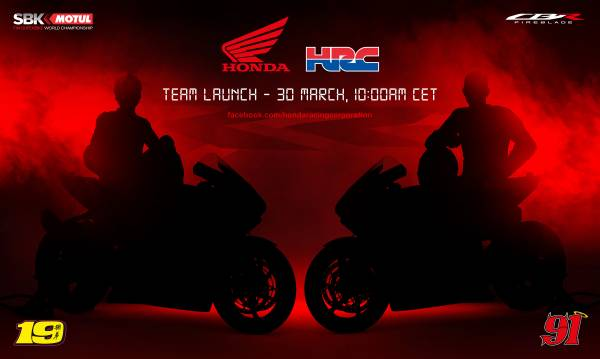 SAVE THE DATE 2021 WorldSBK Team HRC Presentation