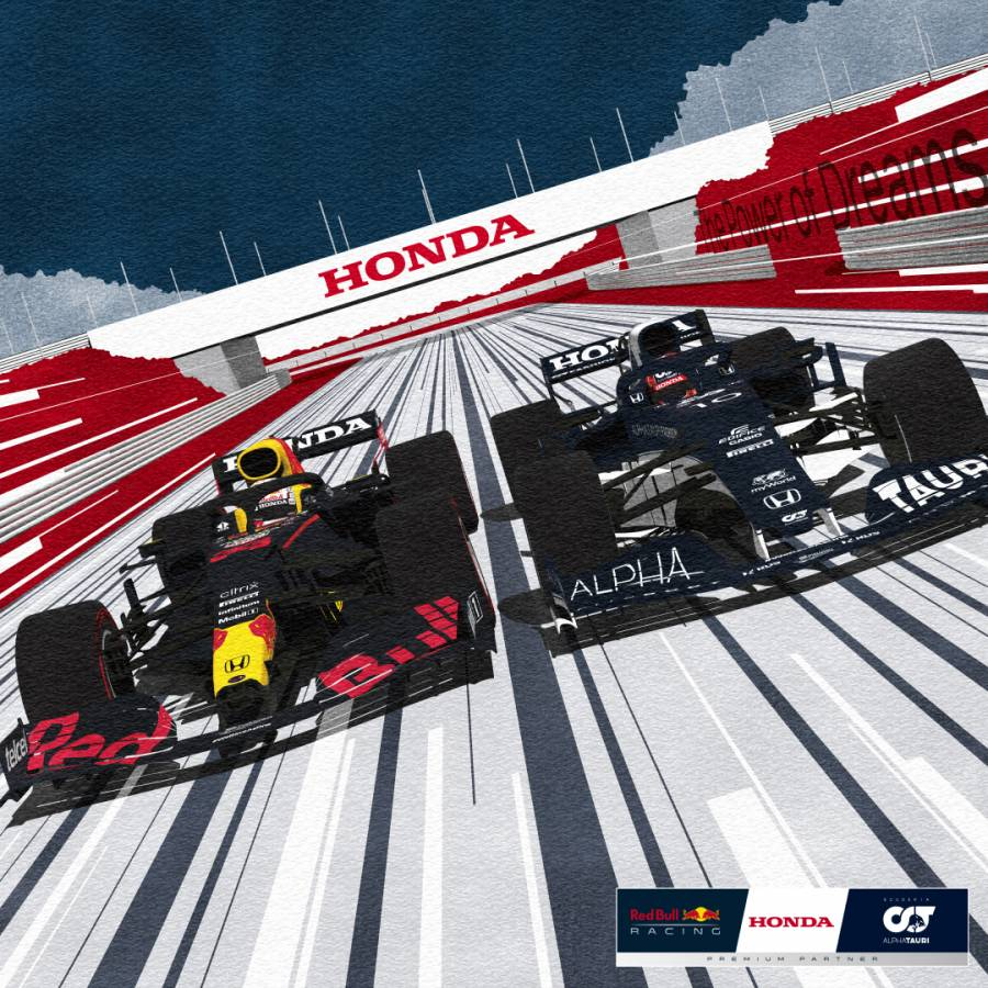 Honda F1 Season Launch Poster