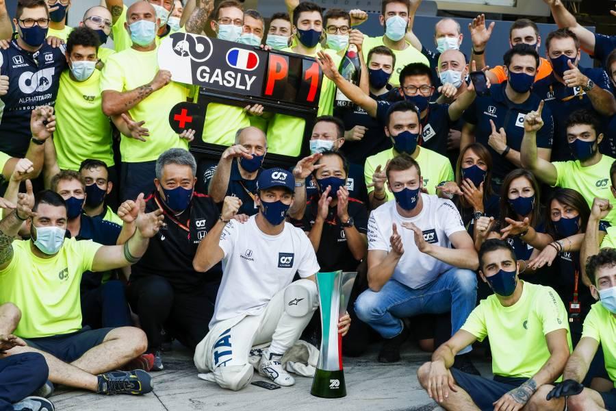 Scuderia AlphaTauriとはタッグ結成50戦目の記念レースで勝利を挙げた