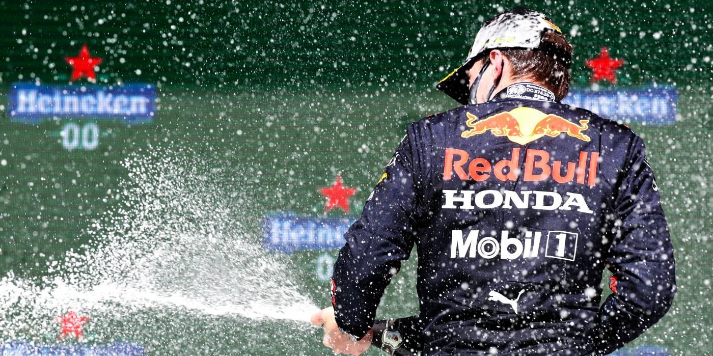 Max Splits The Mercedes At The Portuguese Grand Prix