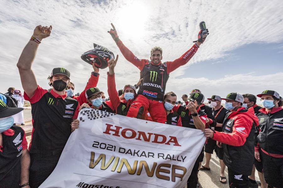Honda one-two in the 2021 Dakar Rally: Kevin Benavides, champion, and Ricky Brabec, runner-up in the world's toughest race