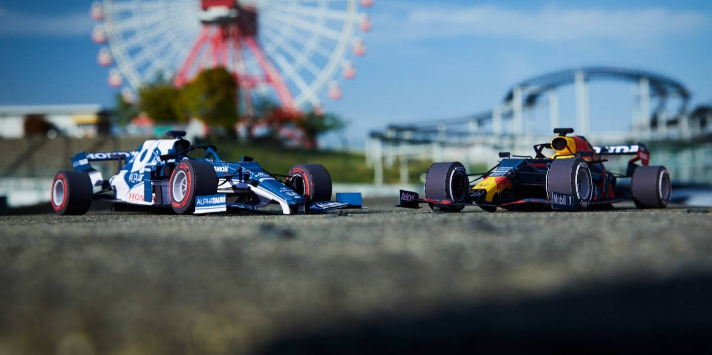 Build The Red Bull Racing RB16B - Download NEW Honda Papercrafts