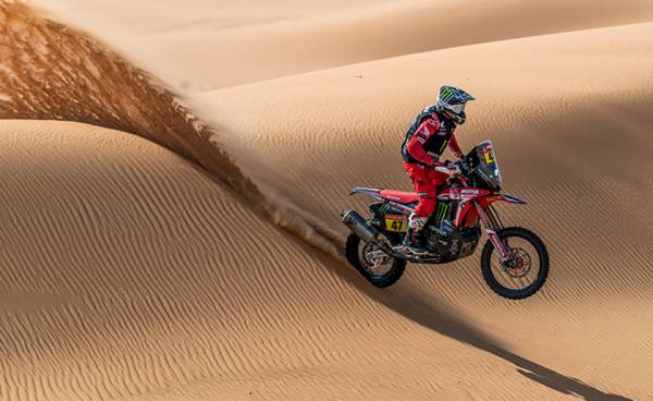 Kevin Benavides Claims First Dakar Rally Victory Honda Wins Motorcycle Category for Second Straight Edition