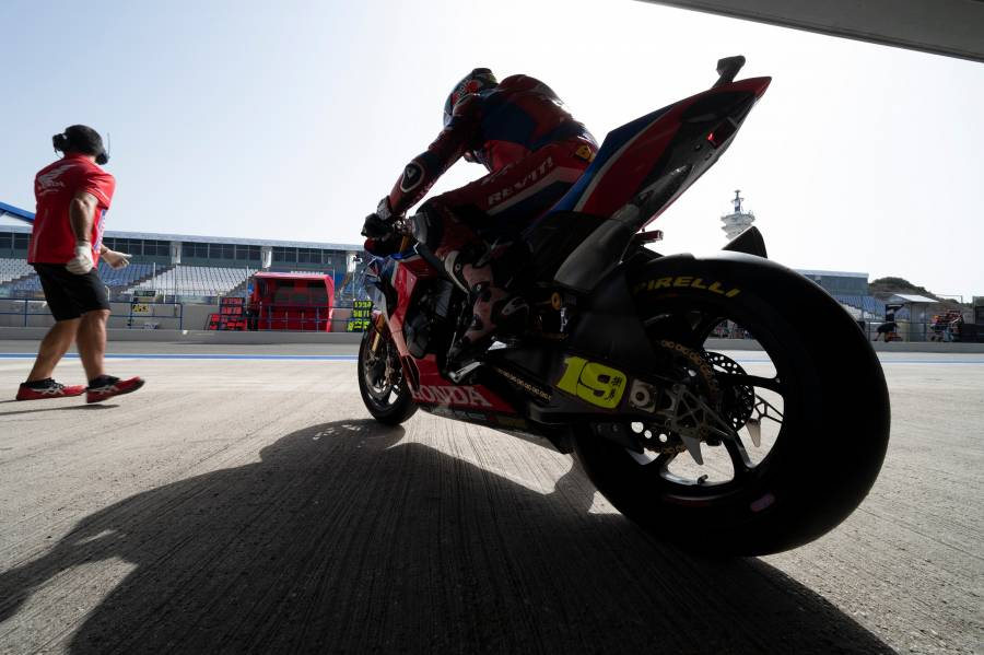 Team HRC prepares to return to the track for the first 2021 test session at Jerez