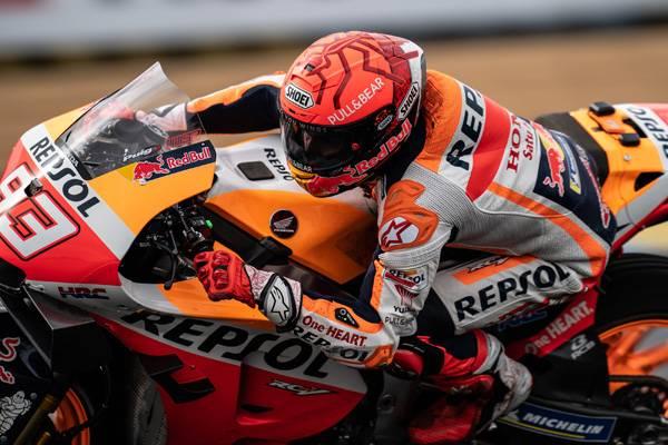 Comeback Man Marquez On Le Mans Second Row