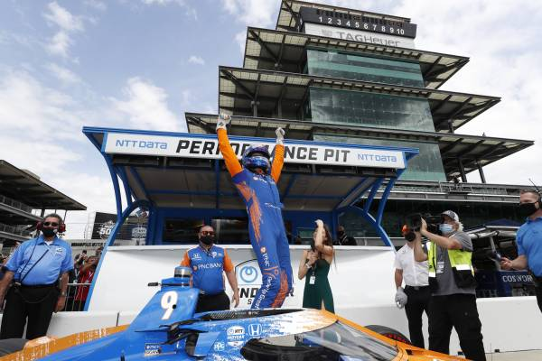 Dixon, Honda Claim Pole For 105th Running of the Indianapolis 500