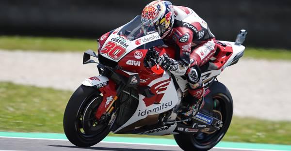 中上貴晶Honda勢トップの7番手。マルク・マルケス13番手、ポル・エスパルガロ14番手、アレックス・マルケスは18番手で初日を終える
